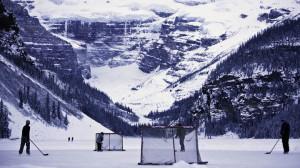 Mountain pond hockey